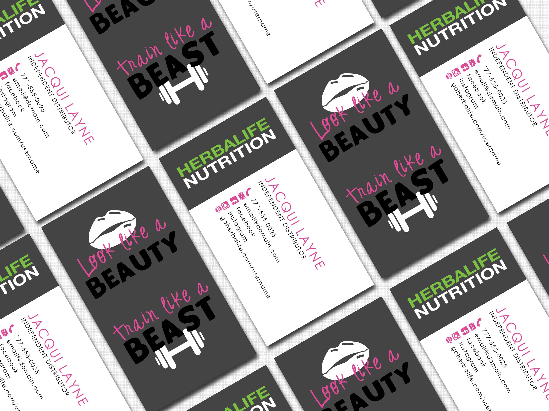 Herbalife Business Card Digital Template | Look Like A Beauty Train ...
