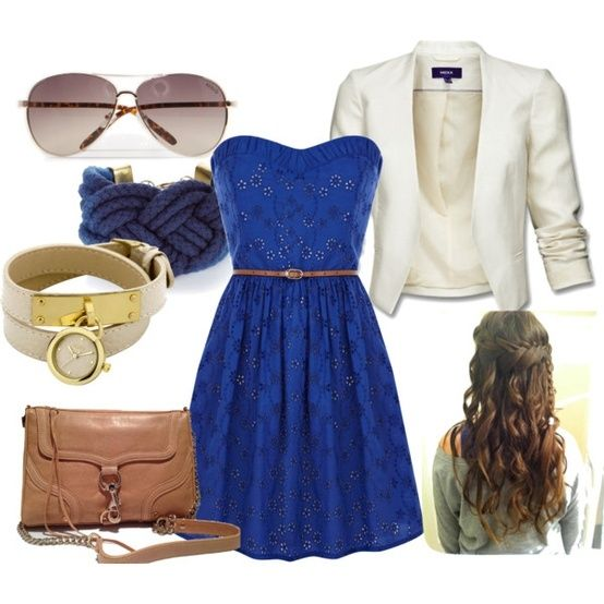 blue mini dress outfit, created by sarah-allen30 on Polyvore by ...