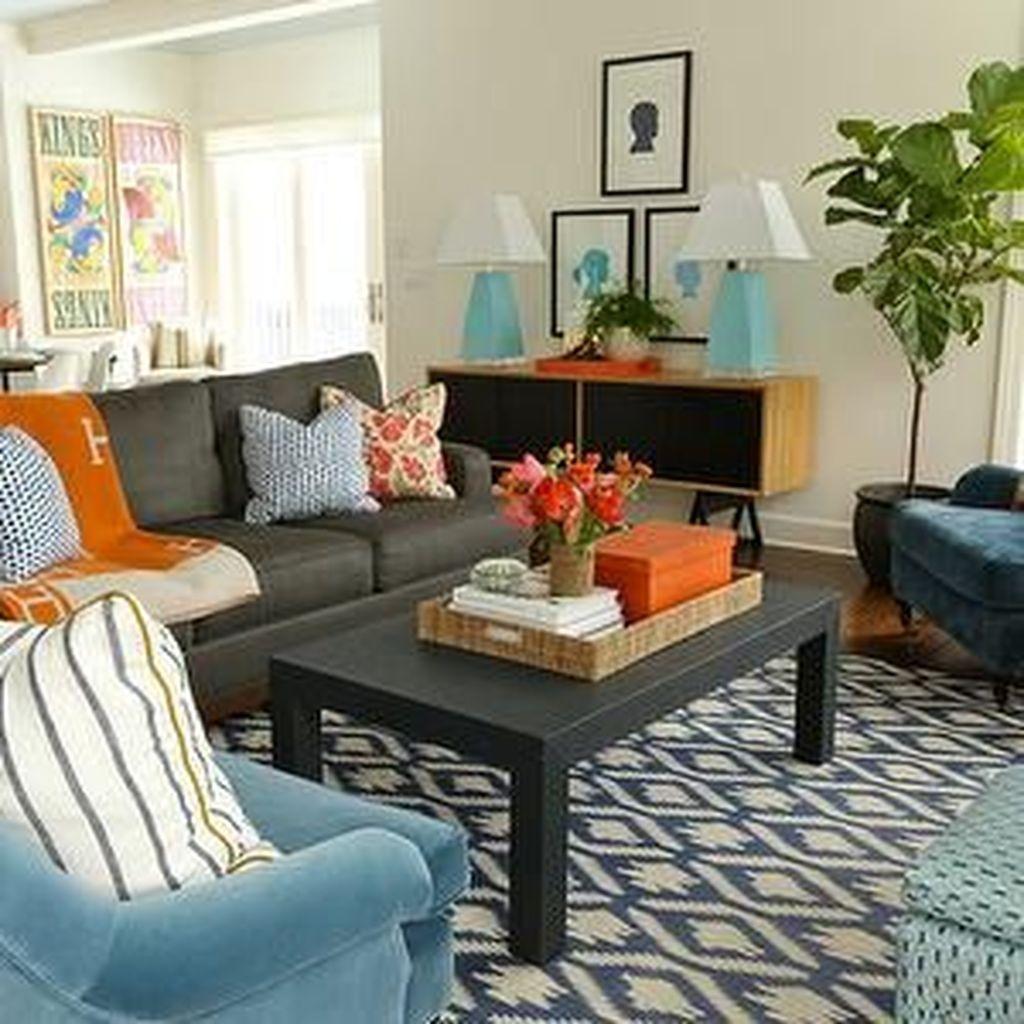 20 Stylish Orange And Grey Living Room Décor Ideas Trendh