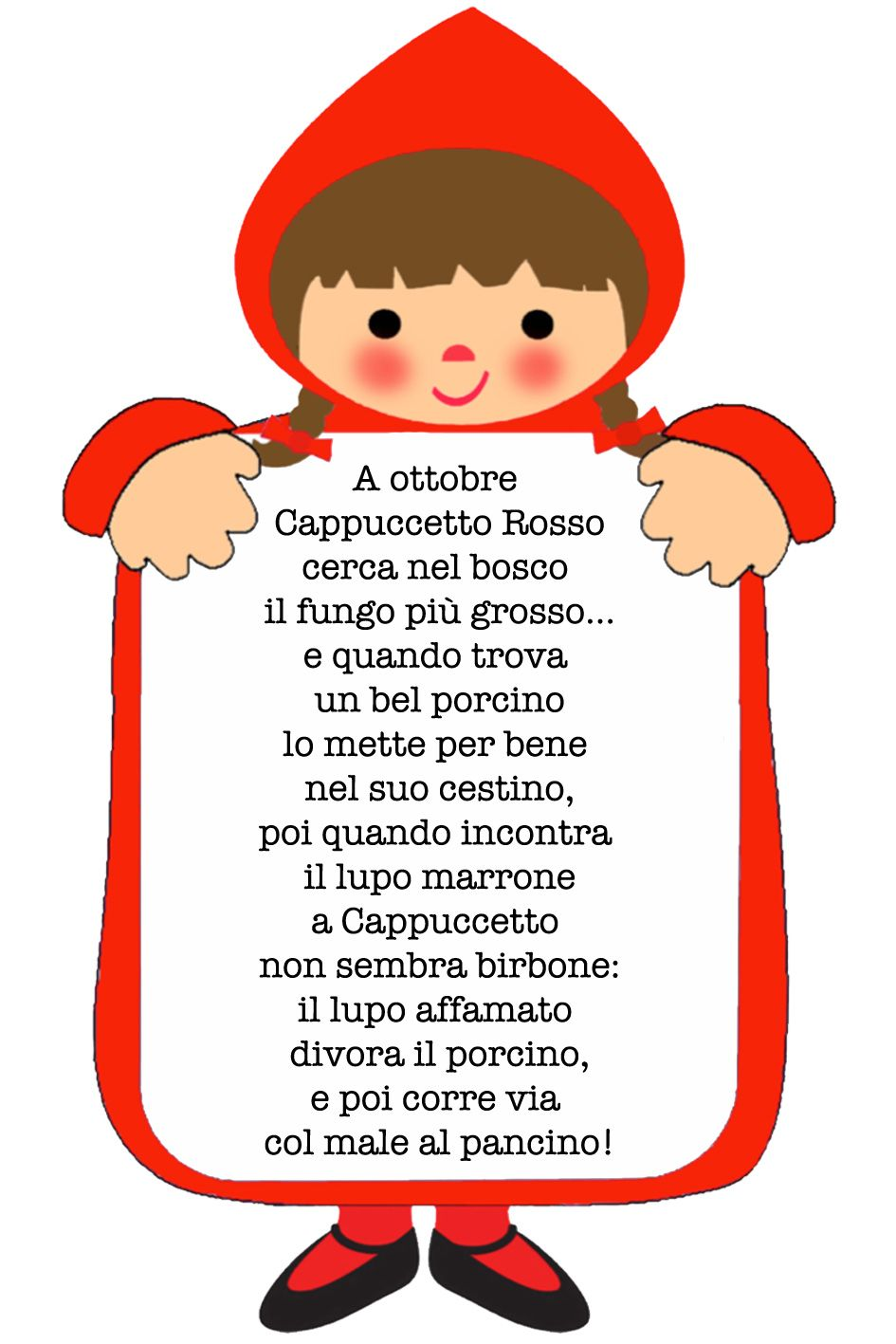Fiabastrocca Cappuccetto Rosso Idee E Progetti Nursery Rhymes
