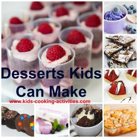 Dessert recipes kids can make the best pins pinterest for Easy things to make for dinner for two