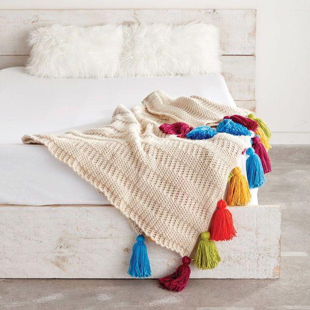 Top Free Home Decor Crochet Patterns | Mantas de ganchillo ...
