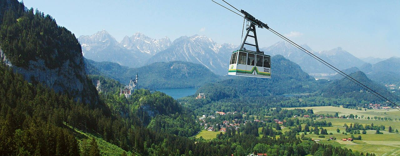 The Tegelberg Cable Car And Summer Luge Neuschwanstein Schwangau And Hohenschwangau Neuschwanstein Castle Romantic Road Germany Vacation Places