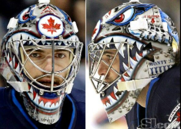 Al Montoya Winnipeg Jets Mask Goalie Mask Goalie Hockey Goalie