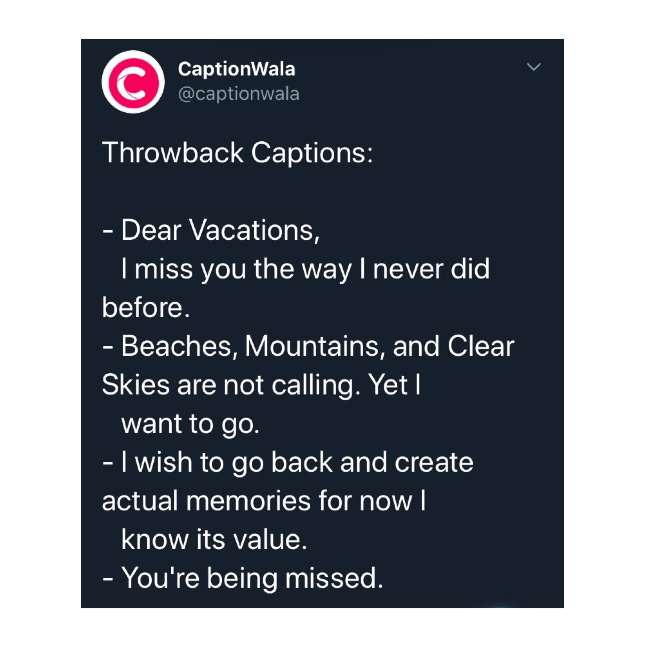 Throwback Captions Throwbackoutfits Lifebeforequarantine Throwback Throwbackthursday Throwback Quotes Witty Instagram Captions Instagram Quotes Captions
