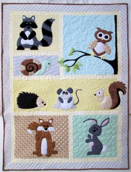 Flannel Wildlife Woodland Quilt Kit Love This Baby