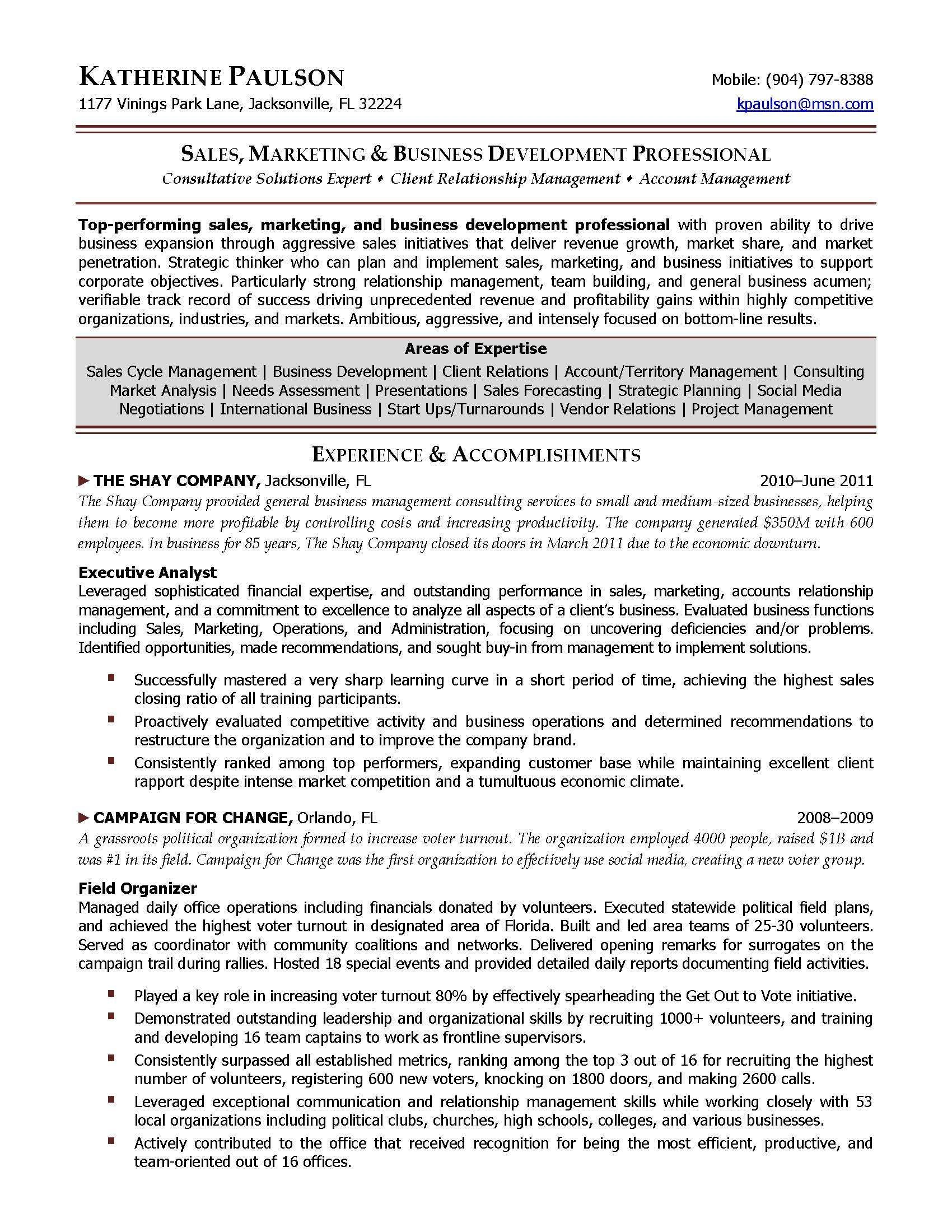 Ceo Resume Samples Template Position Letter Example Templates
