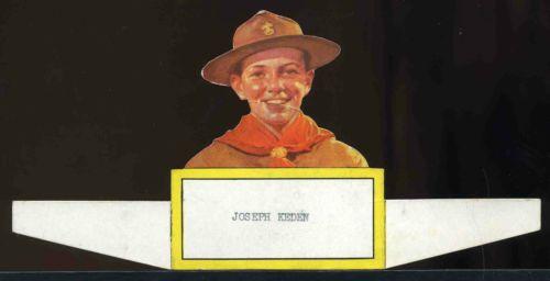 Vintage 1930's 1940's Era BSA Boy Scout Die Cut Dinner Name Place Card