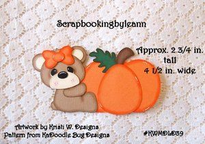 Fall bear paper piecing for sale on Ebay