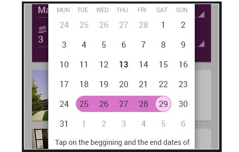 http://www.telerik.com/android-ui/calendar