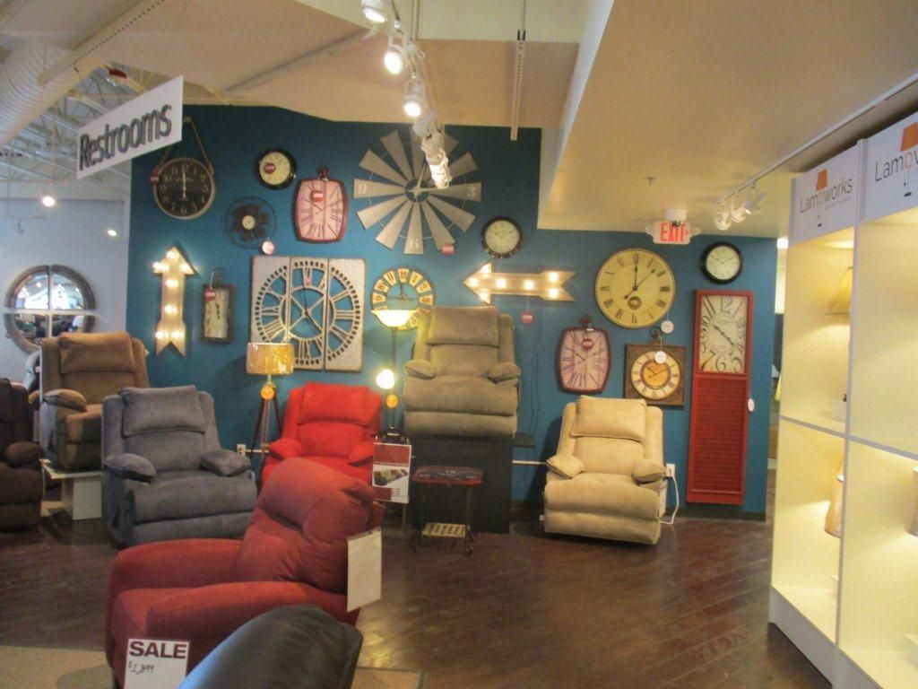 The Wall Of Clocks At Levin Furniture New Avon Location