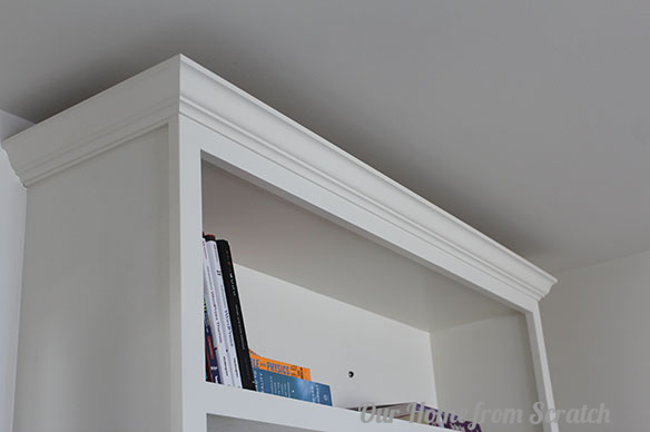 how to add trim to a bookcase