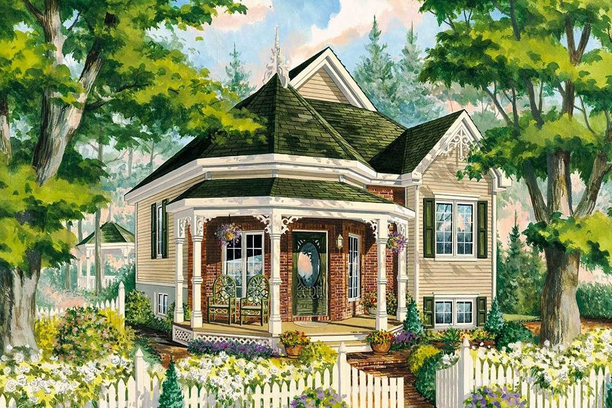 Plan 80707pm Victorian Cottage Home Plan In 2021 Victorian House Plans Victorian Cottage Cottage House Plans