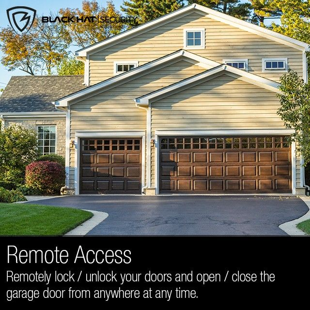 Remote Access Remotely Lock Unlock Your Doors And Open Close The Garage Door From Anywhere At Any Time Garage Doors Garage Door Styles Steel Garage Doors