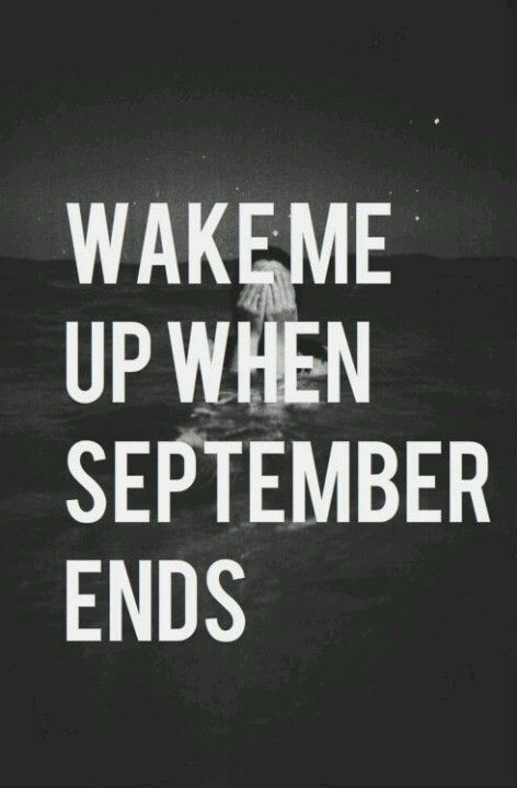 Wake me up when september letra en español