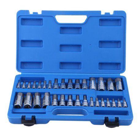 32 Pcs Allen Wrench Bit Kit Chrome Vanadium Ratchet Socket Impact Socket Set On Clearance Silver Impact Sockets Socket Set Metric Socket Set