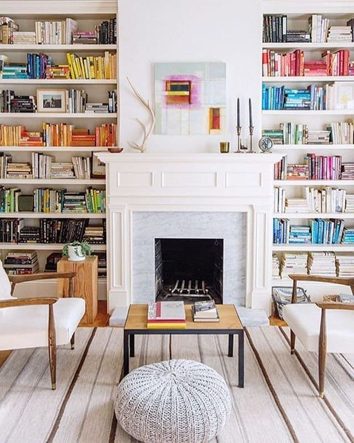 28 Dreamy Home Offices With Libraries For Creative Inspiration: Pin By Kathy Tanaka On DECOR