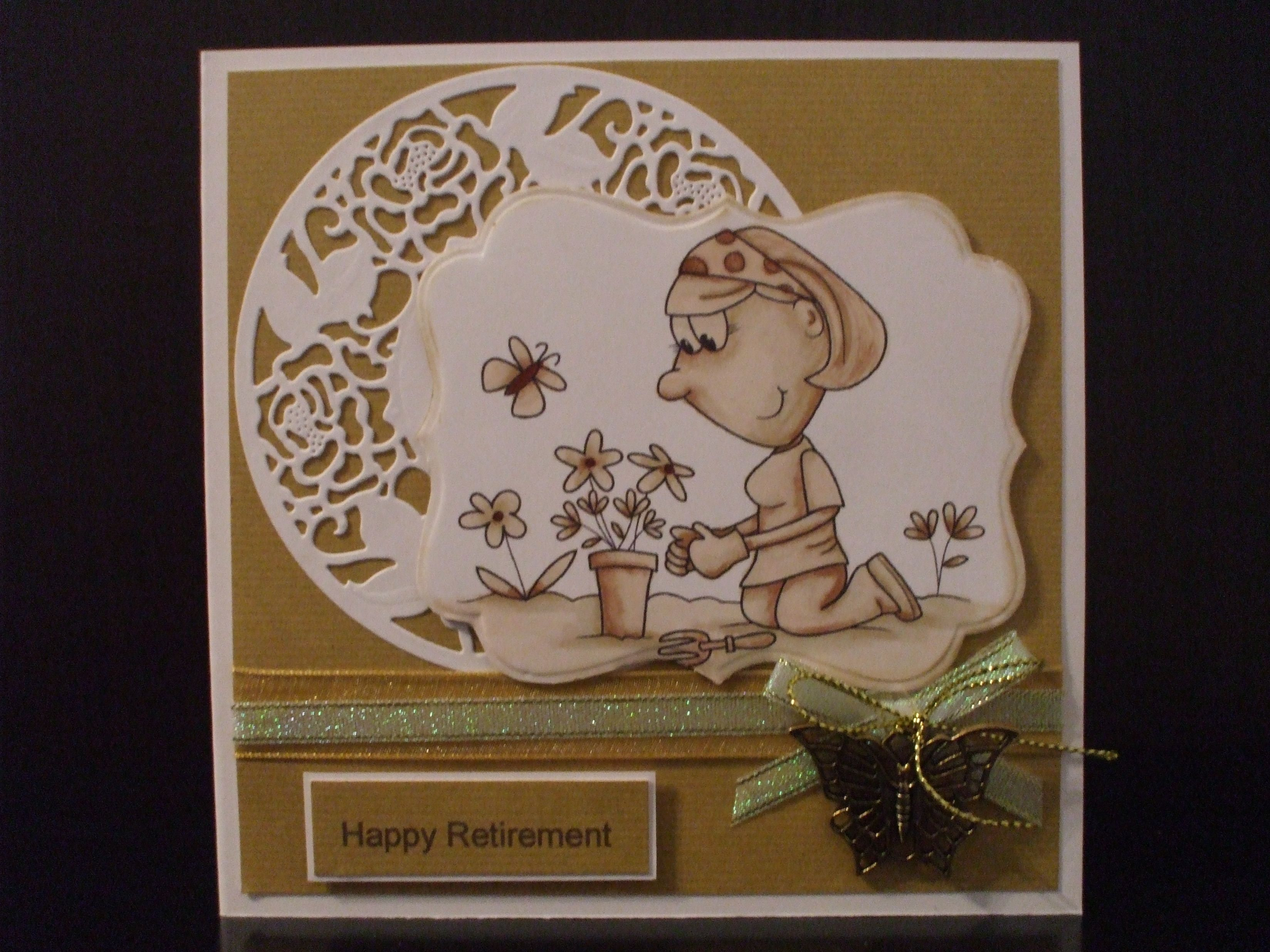 Handmade retirement card female digistamp boutique image
