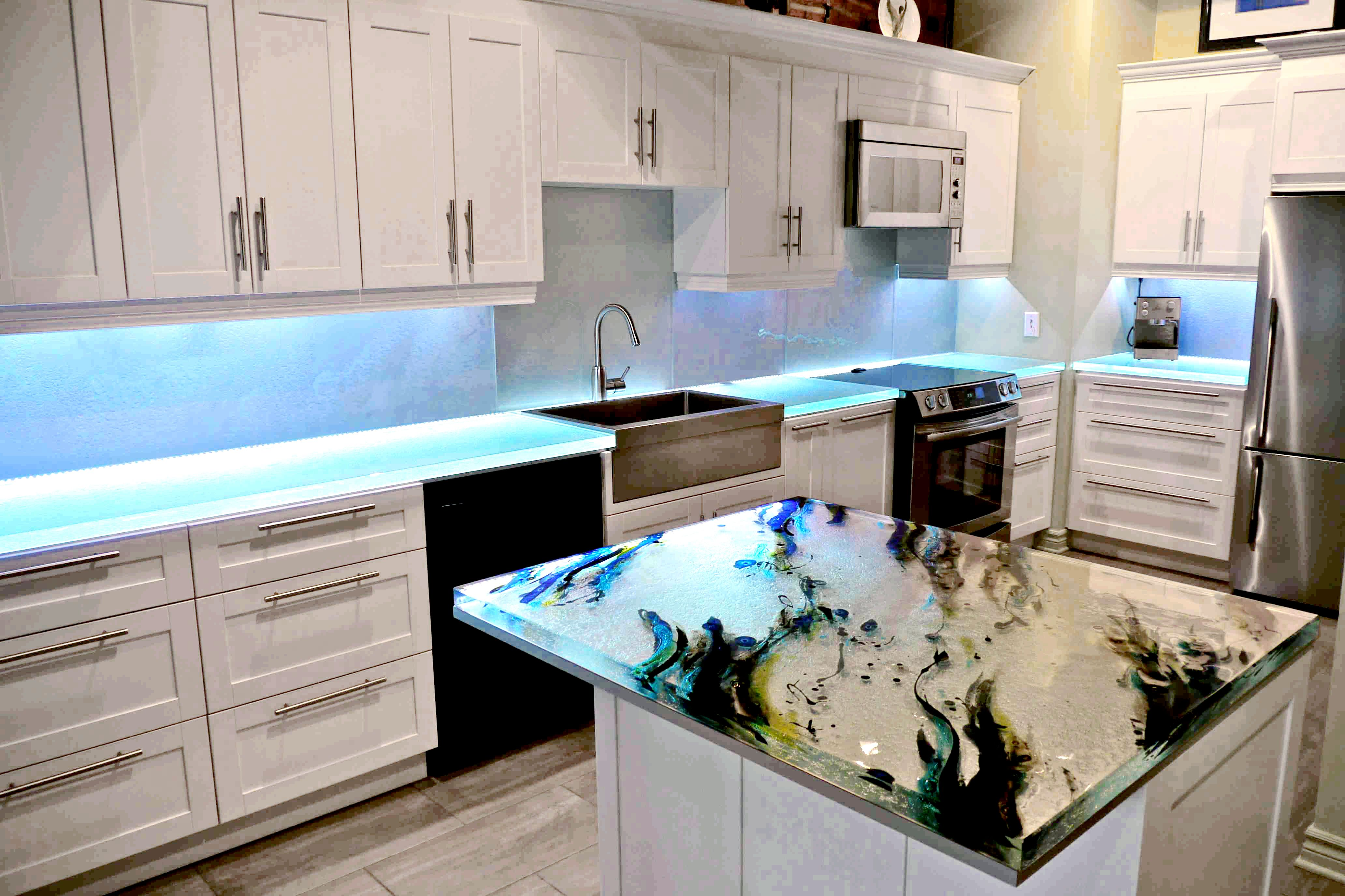Incorporate an artistic application in your kitchen countertops! A ...