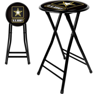 Outstanding U S Army Symbol 24 Cushioned Folding Stool In 2019 Inzonedesignstudio Interior Chair Design Inzonedesignstudiocom