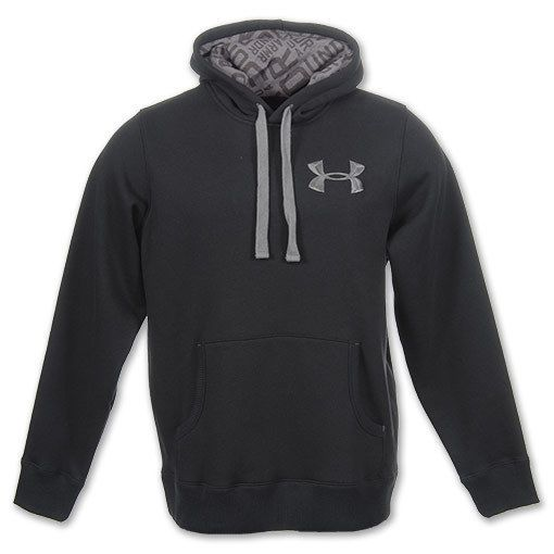 MEN'S LARGE UNDER ARMOUR STORM FLEECE HOODIE BLACK COLD GEAR 1221905 NWT KO #UnderArmour #Hoodie