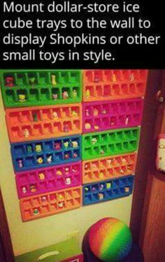 Displays for smalls. I bet tsum tsums would fit nicely.