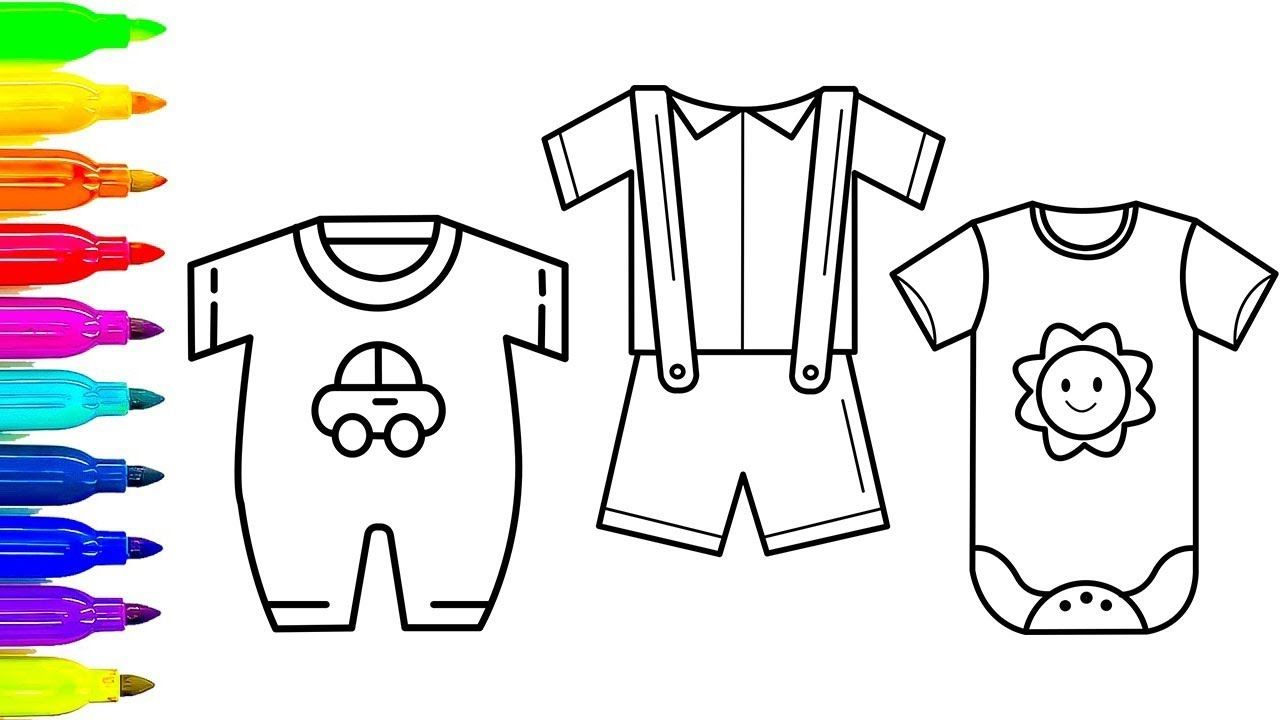 Dress coloring Pages for babies How to Draw Dresses for