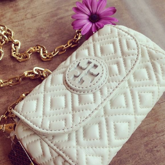 "Spotted while shopping on Poshmark: ""Tory Burch Marion Quilted Small Crossbody""! #poshmark #fashion #shopping #style #Tory Burch #Handbags"
