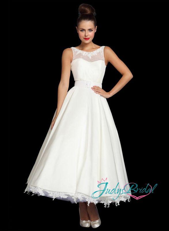 973b1b9ef70b Pin by Helen West on wedding dresses | Wedding dresses, Tea length wedding  dress, Vintage style wedding dresses