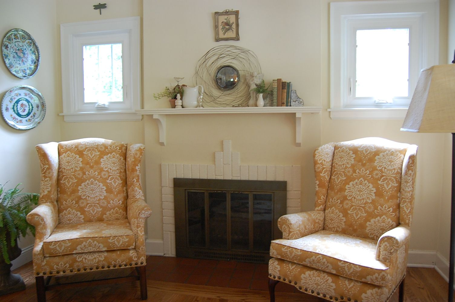 Pair Of Chairs Flanking Fireplace Family Room Remodel Family Room House Design