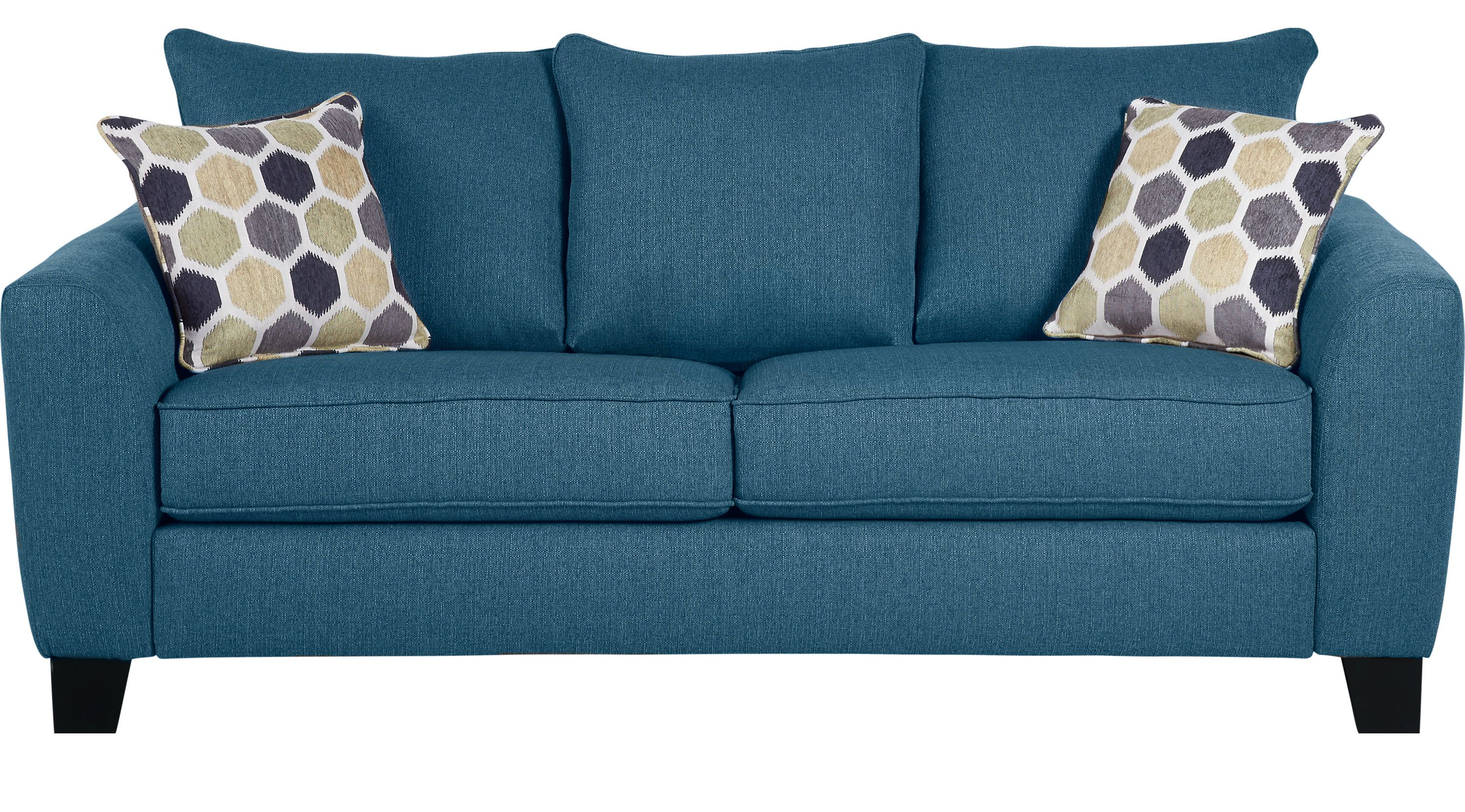 Sofas Rooms To Go Bonita Springs Blue Sofa 10141618 Blue