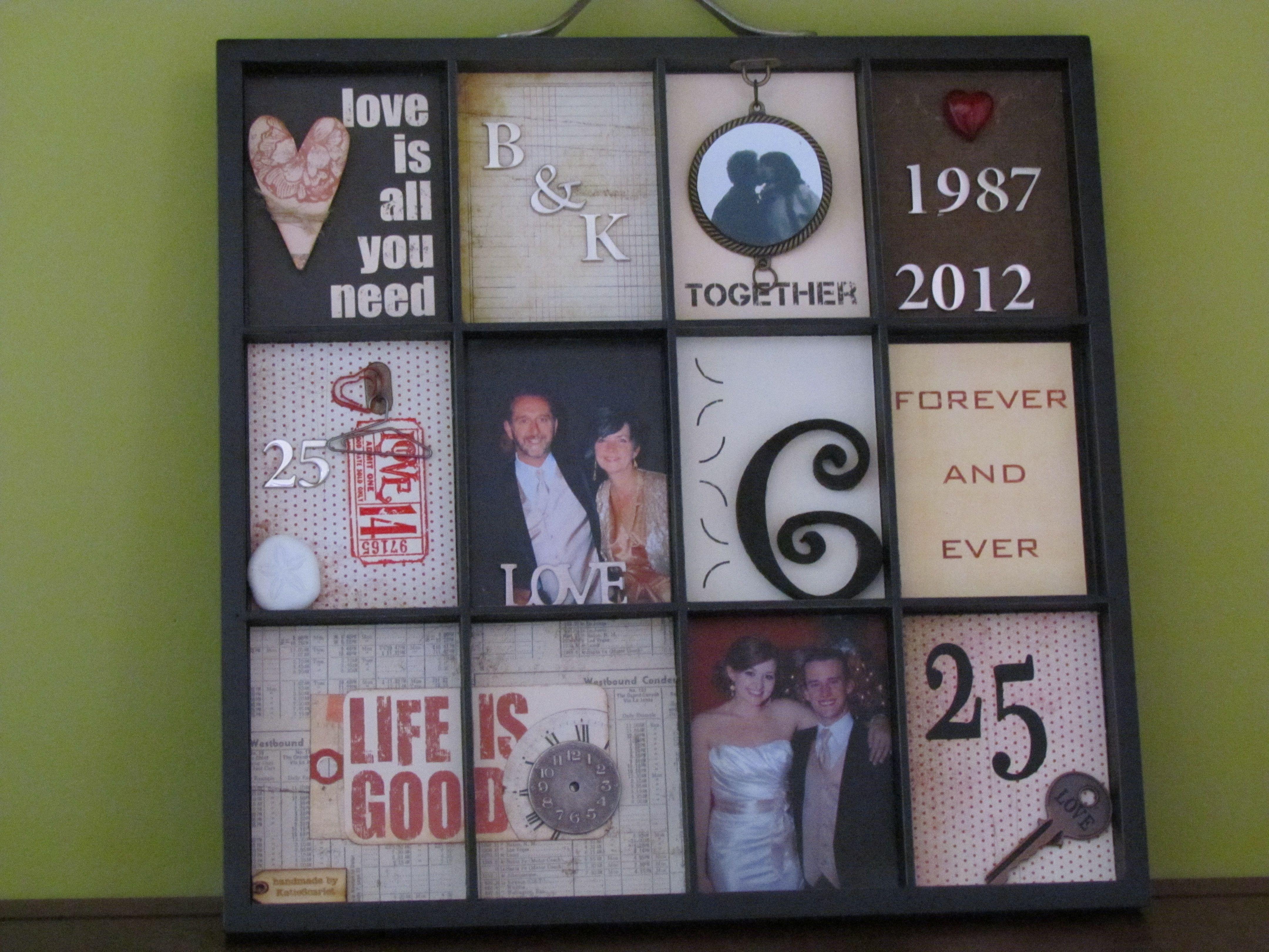 40th Wedding Anniversary Gift Ideas Parents: Printer's Tray - 25th Anniversary