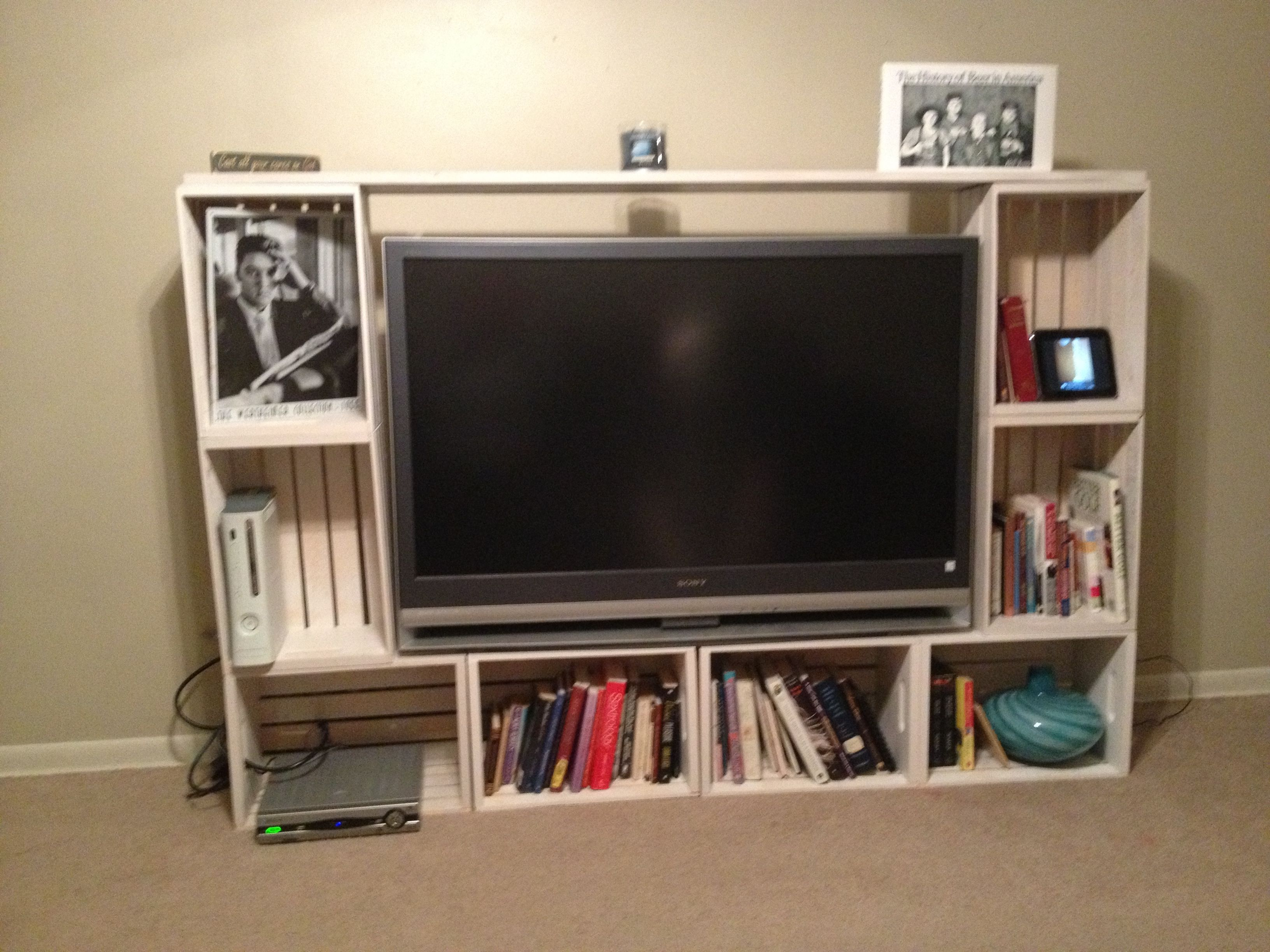 Crates Entertainment Center I Made Distressed Furniture