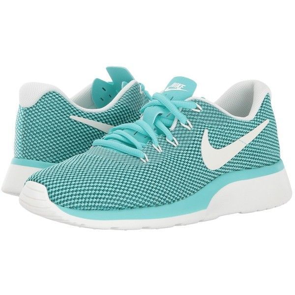 f97e3c2dd2ea Nike Tanjun Racer (Aurora Green Sail Iced Jade) Women s Shoes ( 70) ❤ liked  on Polyvore featuring shoes