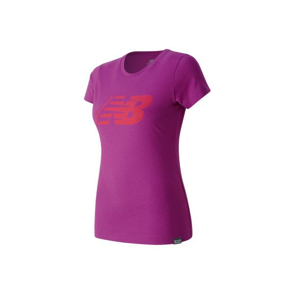 Women's New Balance Original Tee - Jewel Short Sleeve Shirts (€31) ❤ liked on Polyvore featuring tops, t-shirts, none, purple shirt, short sleeve shirts, t shirt, 80s t shirts and logo t shirts