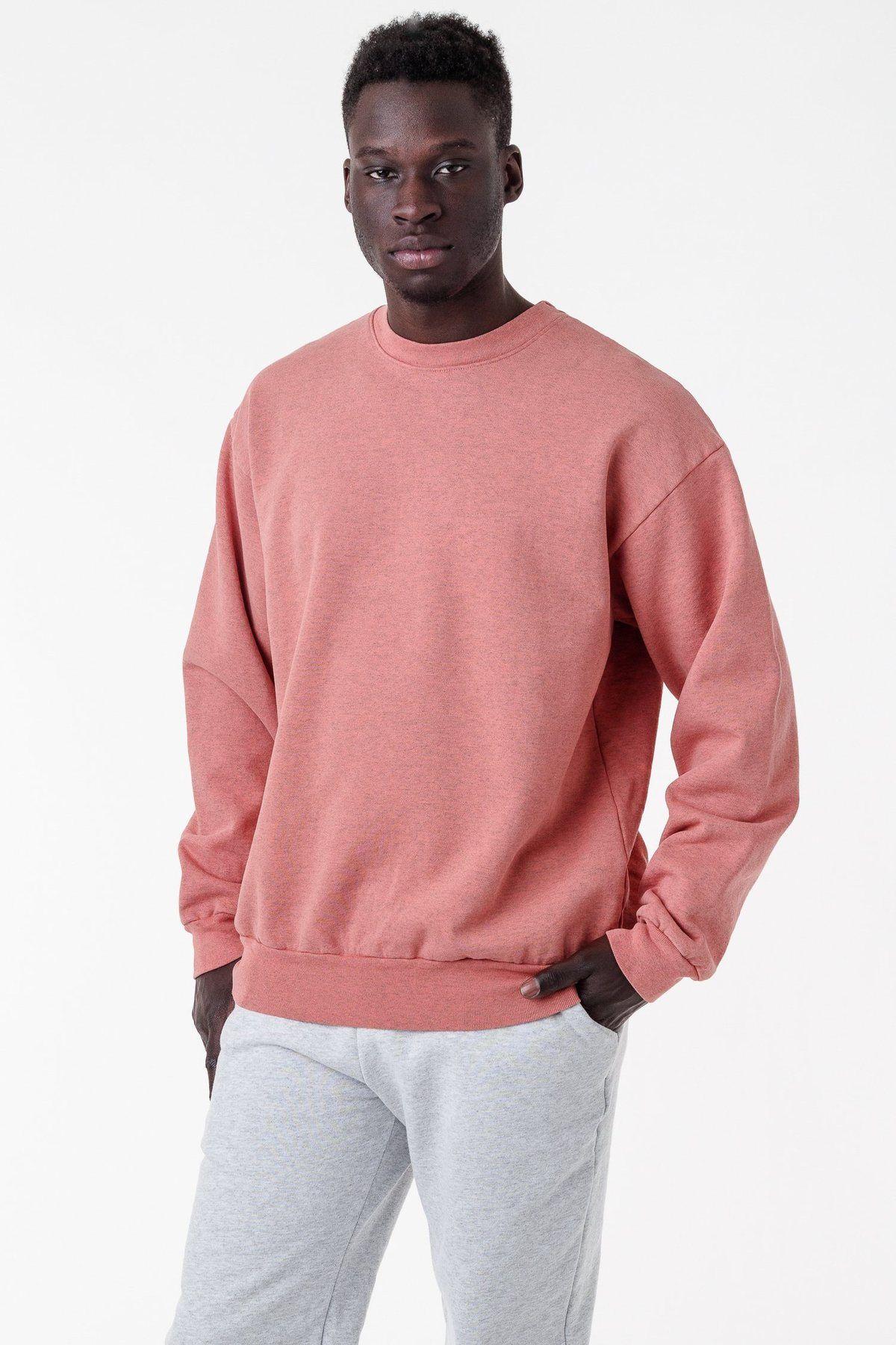 Hf07gd 14oz Garment Dye Heavy Fleece Pullover Crewneck Sweatshirt Crew Neck Sweatshirt Fleece Pullover Garment Dye [ 1800 x 1200 Pixel ]