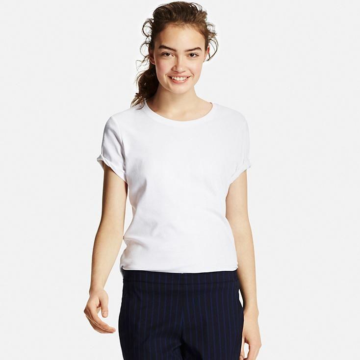 b31047020f49 Women Supima® Cotton Crew Neck T-Shirt