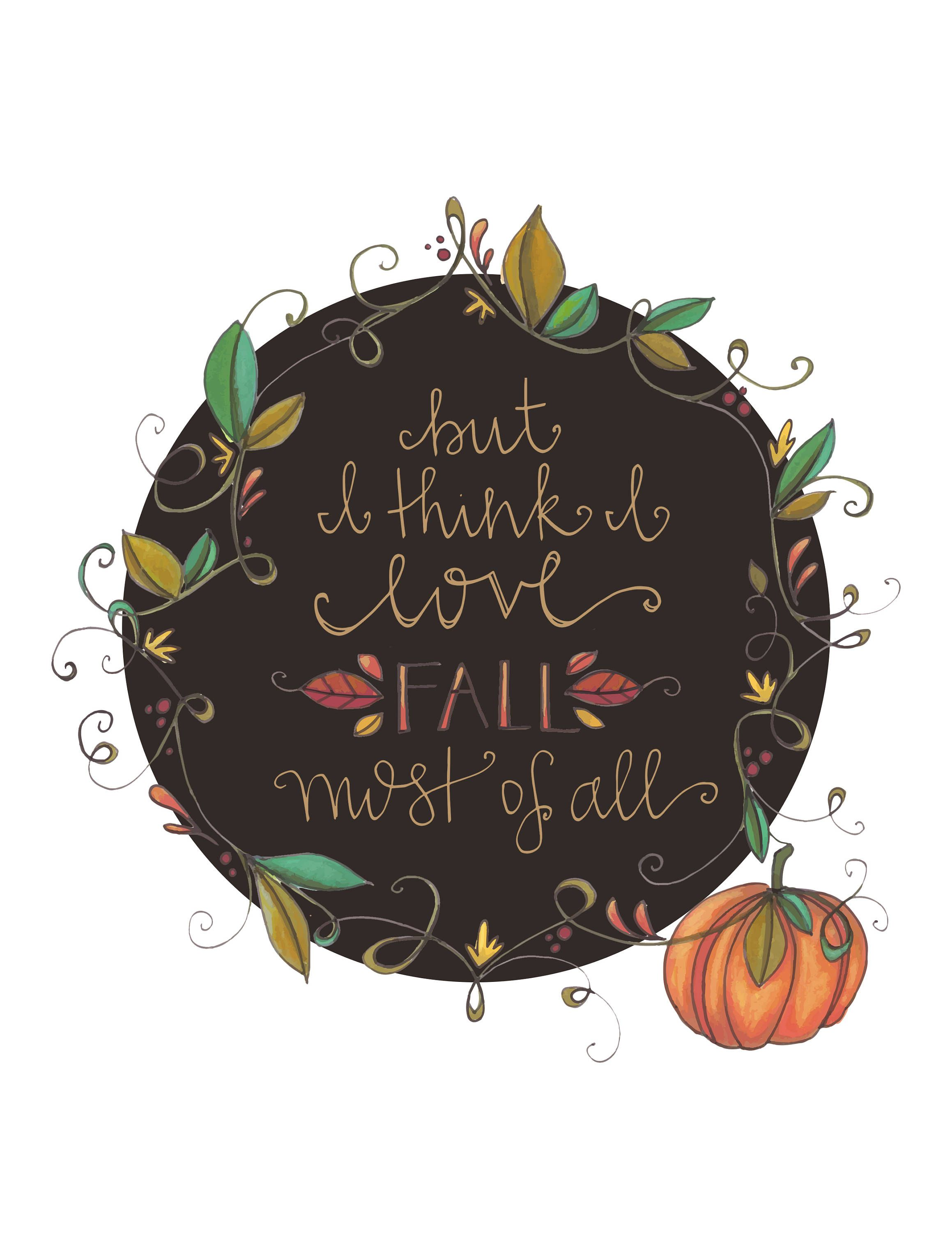 Download But I think I love Fall most of all, Floral illustration ...
