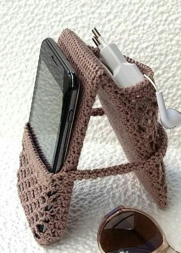 Photo of Original crochet bags for mobile phones in 6 colors – #bolsitas key chain ….