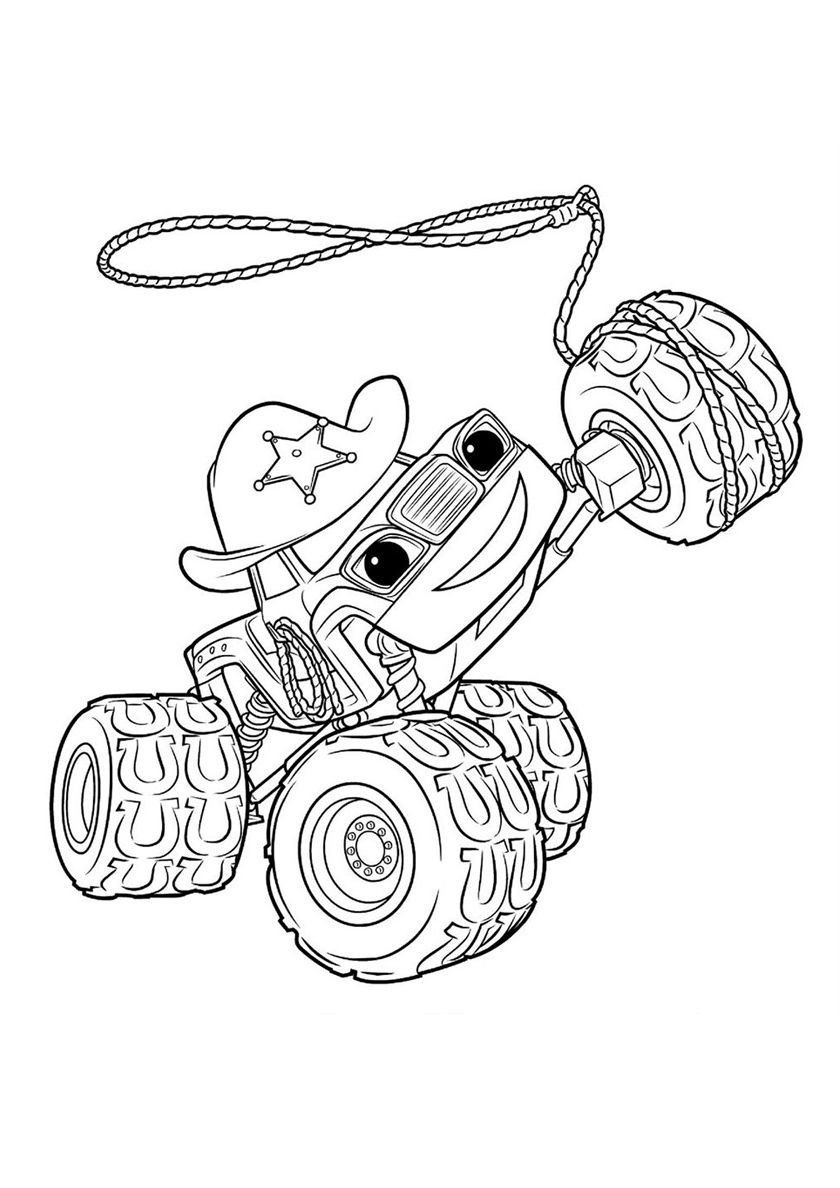 Blaze Monster Truck Coloring Pages Starla With Images Monster Truck Coloring Pages Monster Coloring Pages Cartoon Coloring Pages