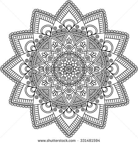 Mandala. Vintage decorative elements. Oriental pattern