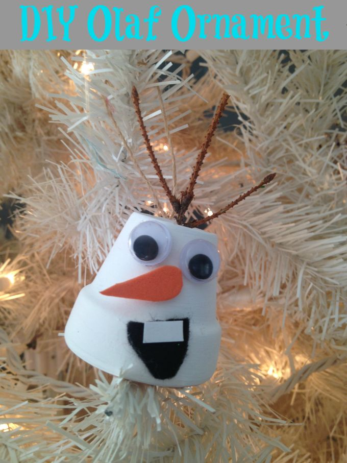 diy frozen olaf christmas ornament