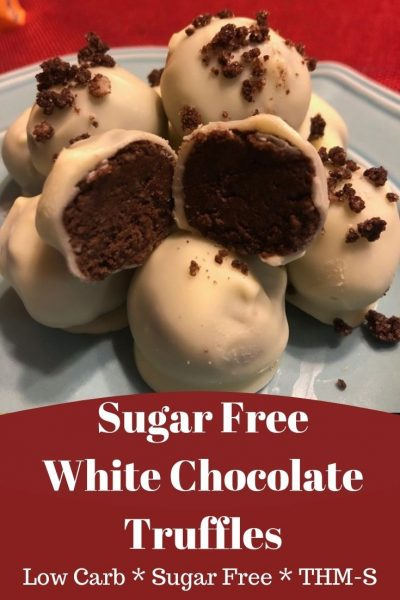 Sugar Free White Chocolate Truffles - An Ordinary Housewife #sugarfreedesserts
