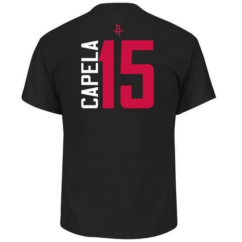 new concept 74e1e 624d5 Majestic Men's Houston Rockets Clint Capela 15 Vertical Name ...