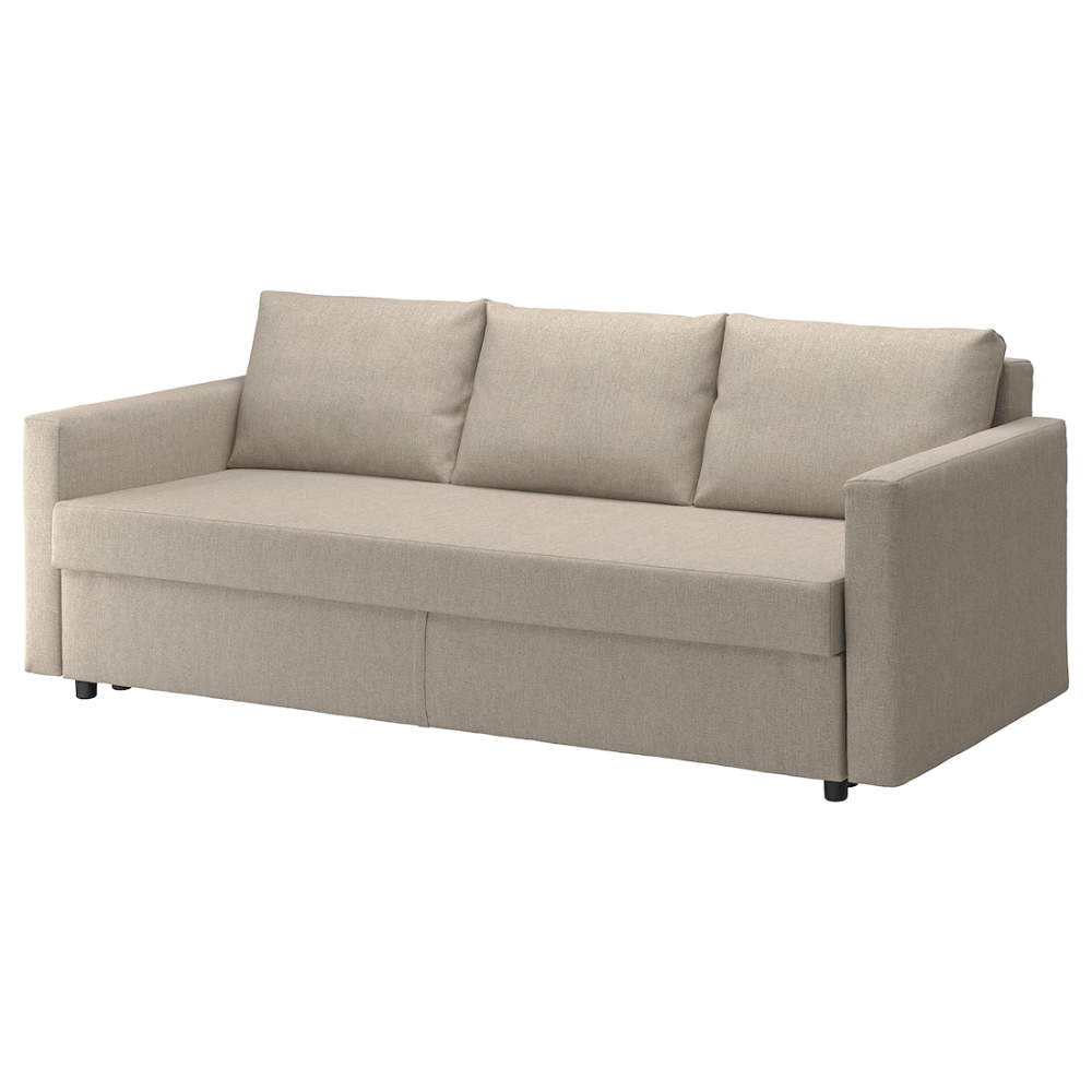 Friheten Hyllie Beige 3 Seat Sofa Bed Ikea In 2020 Sofa Bed With Storage Ikea Bed Sofa