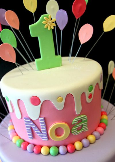 Dripping Icing Birthday Cake Birthday Cakes Tiered birthday
