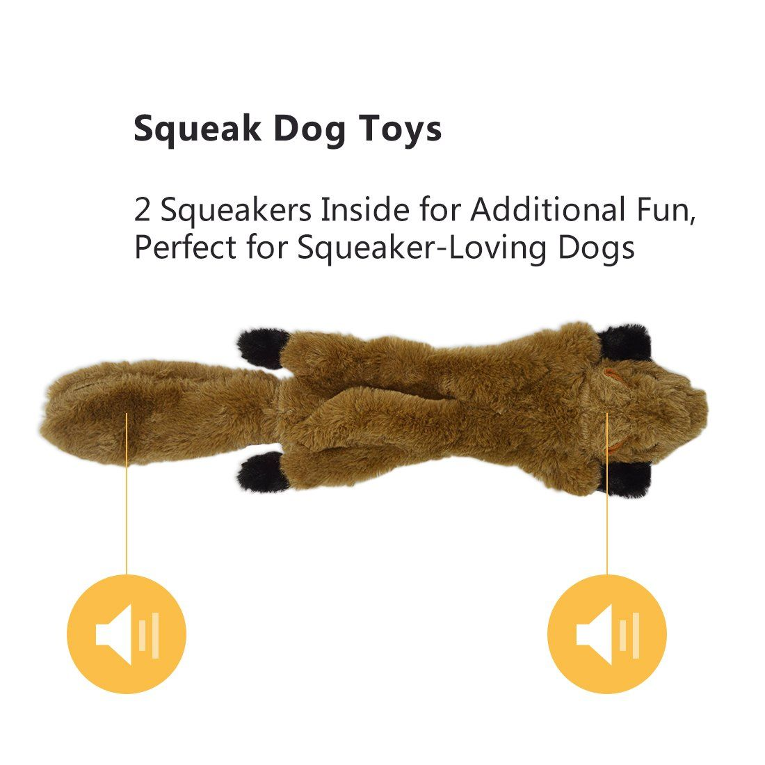 Uoliwo No Stuffing Dog Toys With Squeakers Durable Stuffingless
