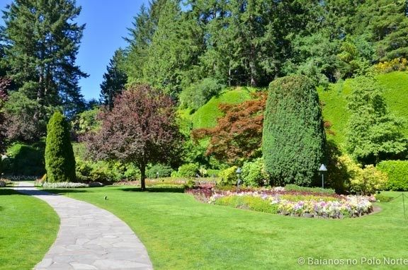 Butchart Gardens, um dos jardins mais lindos do Canadá - Baianos no Polo Norte #butchartgardens