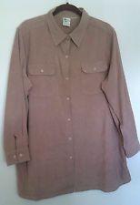 #Roaman's Moleskin Bigshirt, Beige/Tan, Size Large