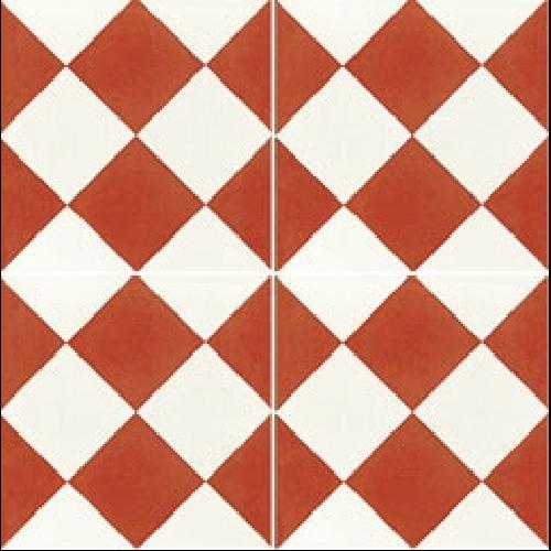 Carreau De Ciment Damier Rouge Et Blanc 20x20 Cm Ref310 2 Carreau De Ciment Damier Carrelage Rouge